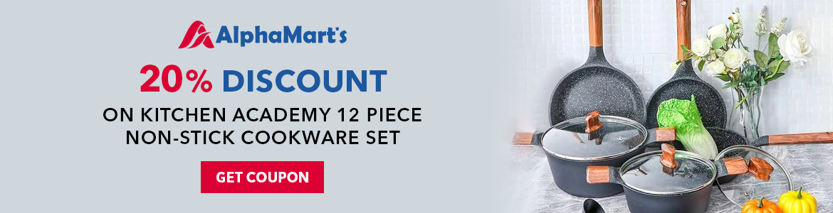 Save 20 On Kitchen Academy 12 Piece Non-stick Cookware Set. Shop Now