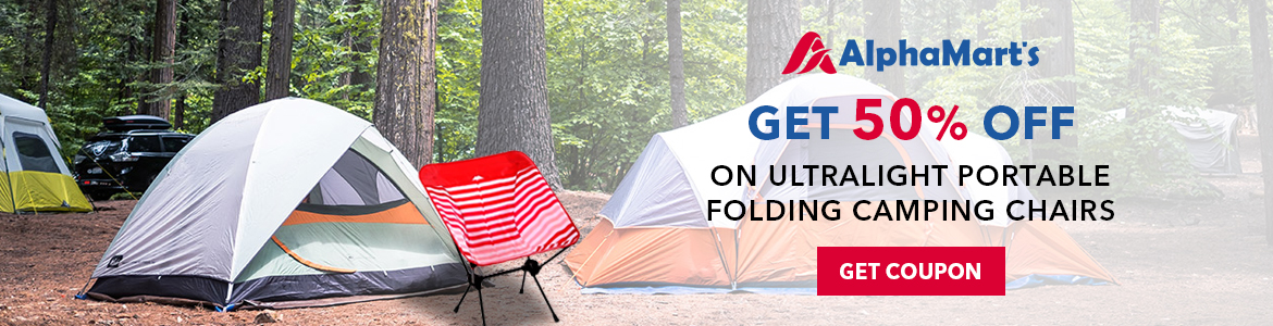 Save 50% Off Clearance Ultralight Portable Folding Camping Chairs. Shop Now