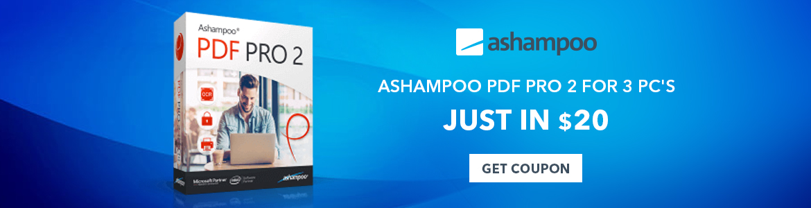 Ashampoo PDF Pro 2 For 3 PC's Just In $20.00. Shop Now