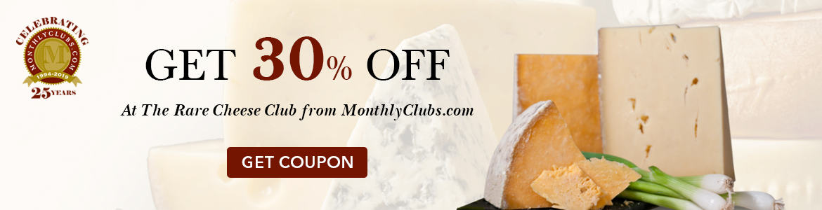 Spring Sale! Get $30 off At The Rare Cheese Club from MonthlyClubs.com
